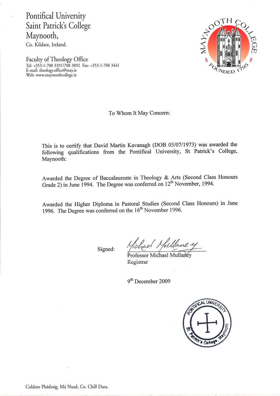 information for clergy about the course information for clergy